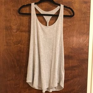Gray work out tank